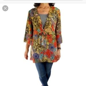 Cabi Shakespeare Tie Front Floral Blouse Style 360